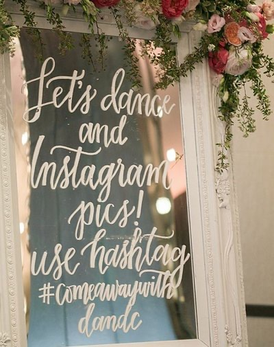 Here arehow to get your guests to use your #hashtag